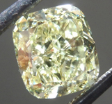 1.51ct Yellow VS2 Cushion Cut Diamond R9162