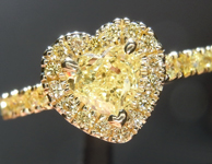 0.54ct Yellow SI1 Heart Shape Diamond Ring R9016