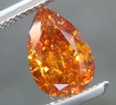 1.25ct Orange I1 Pear Shape Diamond R9215