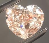 SOLD...0.71ct Brown SI1 Heart Shape Diamond R9233