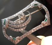 3.23ctw F VS Round Brilliant Diamond Brooch R9225