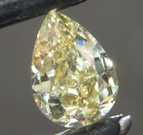 0.62ct Greenish Yellow Chameleon SI2 Pear Shape Diamond R9290