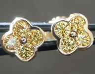 0.19ctw Vivid Yellow VS1 Round Brilliant Diamond Earrings R9273