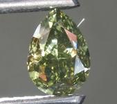 0.68ct Green Chameleon VS2 Pear Shape Diamond R9319