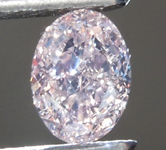 SOLD... 0.40ct Orangy Pink SI1 Oval Shape Diamond R9312