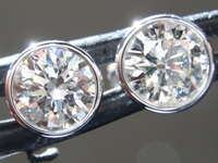 SOLD....1.10ctw J-K (Light Brown) SI2-I1 Round Brilliant Diamond Earrings R9279