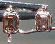 0.86ctw Brown VS Emerald Cut Diamond Earrings R9199