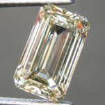2.02ct Greenish Brown SI1 Emerald Cut Diamond R9350