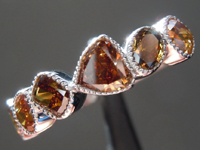 1.42ctw Orange Brown Diamond Ring R8953