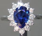 1.74ctw Blue Pear Shape Sapphire Ring R9363