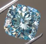 2.01ct Blue VS2 Cushion Cut Lab Grown Diamond R9351
