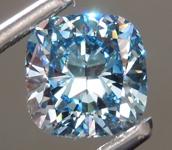 2.03ct Blue VS1 Cushion Cut Lab Grown Diamond R9371