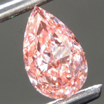 1.16ct Orangy Pink VS1 Pear Shape Lab Grown Diamond R9373