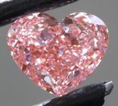 1.28ct Orangy Pink VS2 Heart Shape Lab Grown Diamond R9375