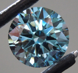 3.28ct Deep Blue VS2 Round Brilliant Lab Grown Diamond R9377