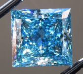 2.51ct Deep Blue VS2 Princess Cut Lab Grown Diamond R9407