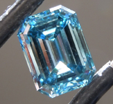 1.60ct Intense Blue VS2 Emerald Cut Lab Grown Diamond R9413
