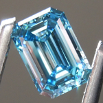1.02ct Intense Blue VS2 Emerald Cut Lab Grown Diamond R9415