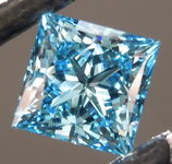 1.06ct Intense Blue VS2 Princess Cut Lab Grown Diamond R9418