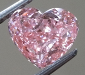 1.01ct Orangy Pink SI1 Heart Shape Lab Grown Diamond R9429