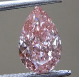 SOLD....0.62ct Orangy Pink VS1 Pear Shape Lab Grown Diamond R9430