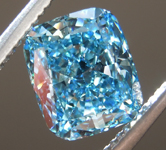 1.65ct Greenish Blue VS2 Cushion Cut Lab Grown Diamond R9436