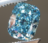 1.27ct Intense Blue VS2 Cushion Cut Lab Grown Diamond R9438