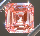 1.17ct Orangy Pink SI2 Asscher Cut Lab Grown Diamond R9439