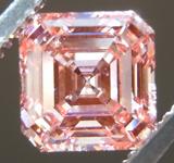 1.42ct Orangy Pink SI2 Asscher Cut Lab Grown Diamond R9440