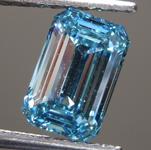 0.94ct Greenish Blue SI1 Emerald Cut Lab Grown Diamond R9473