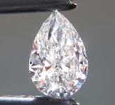 1.00ct F VVS2 Pear Shape Lab Grown Diamond R9498