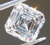 SOLD......0.84 E SI1 Asscher Cut Lab Grown Diamond R9503