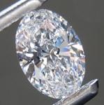 0.71ct D VVS1 Oval Shape Lab Grown Diamond R9517