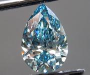1.61ct Vivid Blue VS1 Pear Shape Lab Grown Diamond R9549