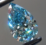 0.61ct Vivid Blue VS2 Pear Shape Lab Grown Diamond R9542