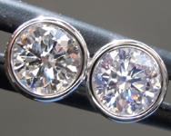 SOLD....1.01ctw H-I I1 Round Brilliant Diamond Earrings R9531