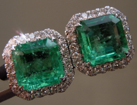 3.03cts Emerald Cut Emerald Earrings R9532