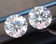 SOLD.....2.52ctw E SI2 Round Brilliant Lab Grown Diamond Earrings R9564