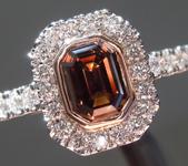 0.71ct Brown VS Emerald Cut Diamond Ring R9205