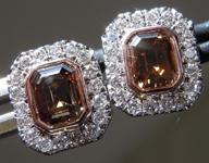 1.43cts Brown SI Emerald Cut Diamond Earrings R9197