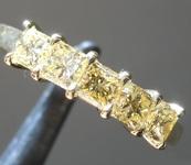 0.99ctw Yellow VS Princess Cut Diamond Ring R9217