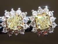 1.01cts Yellow VS1 Cushion Cut Diamond Earrings R9389