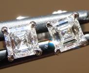 0.55ctw F VS Asscher Cut Lab Grown Diamond Earrings R9598