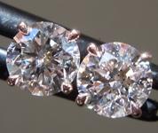 1.06ctw E-F I1 Round Brilliant Lab Grown Diamond Earrings R9621