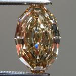 2.07ct Brown SI1 Step Cut Oval Diamond R9640