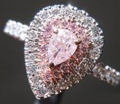 0.25ct Pink I2 Pear Shape Diamond Ring R9600