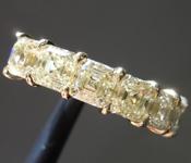 3.03ctw Yellow VS Asscher Cut Diamond Ring R9638