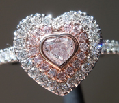 SOLD....0.25ct Pink I1 Heart Shape Diamond Ring R9610
