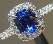1.11ct Blue Oval Shape Sapphire Ring R9650