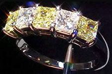 Diamond Band- 1.5ctw White & Yellow Diamond Band
